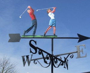 Golfers painted