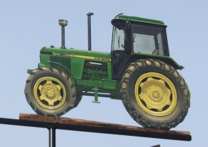 John Deere 3040, painted